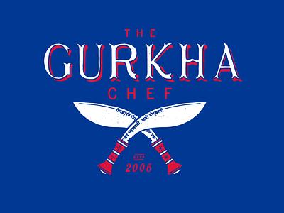Gurkha Chef handdrawn illustration logo branding identity design