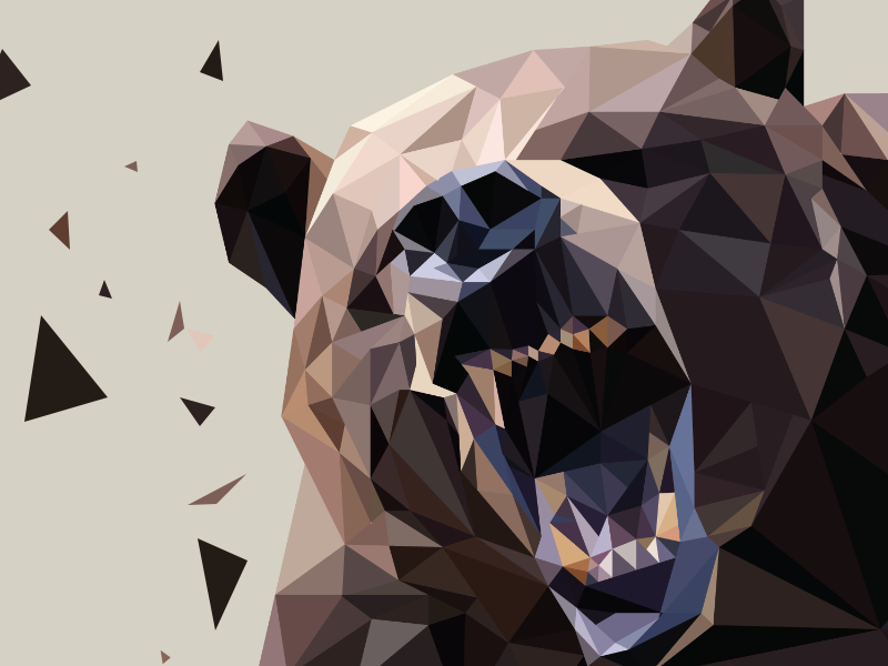 lowpoly bearrrrrr... illustration lowpoly polygon triangle bear