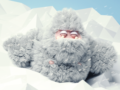 It's alive! yeti snow 3d blender lowpoly monster