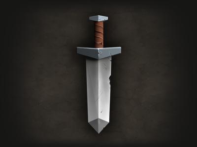Sword sword game asset texture kingdom king knight 3d render