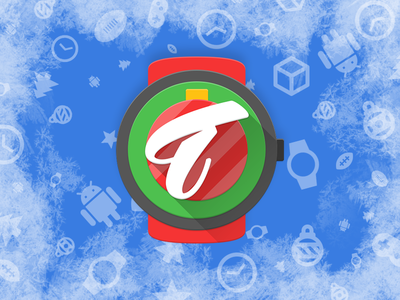 Material Christmas watch watchface christmas appliacion apk app store timestore time android matewrial icon