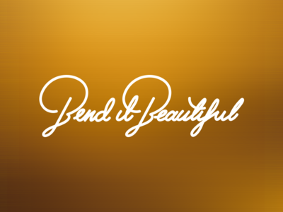 Bend it Beautiful logo word beautiful it wire bend calligraphy lettering
