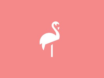 Flamingo logo animal challenge logo flamingo