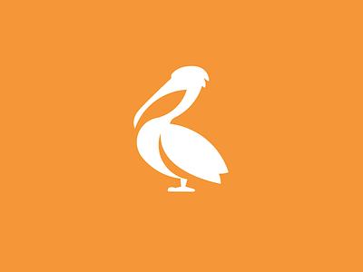 Pelican logo challenge alphabet daily logo bird pelican