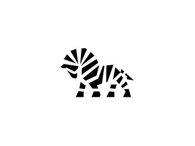 Zebra logo horse zebra animal challenge logo
