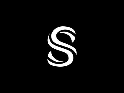 S monogram logo monogram process typography logotype logo letter s