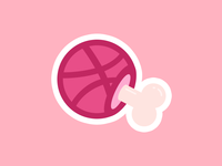 Dribbble meat sticker