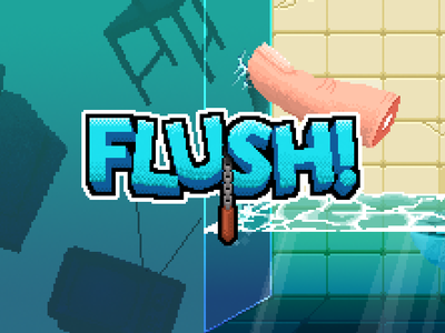 Flush! indie game pixel art google play android mobile games mobile game games game pixel pixelart