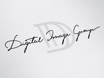 Digital Image Group branding logotype letter monogram logo design caligraphy lettering logo