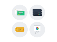4 Services Icons