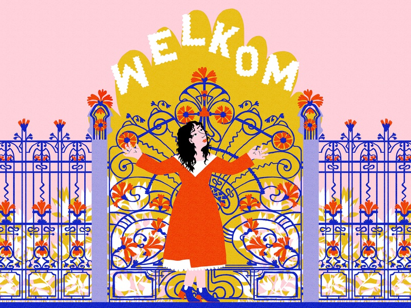 WELCOME! editorial illustration typography summer floral comic cartoon graphic  design design art sketch drawing illustration