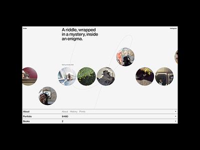 V.M. Archives web design bnd personal design interface