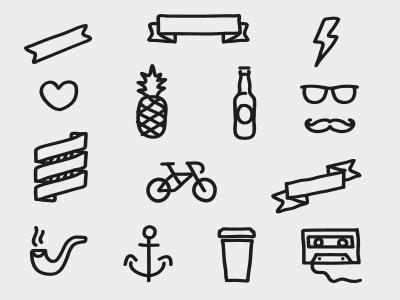 Mixtape hipsters icons brooklyn tel aviv.