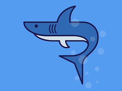 Shark sharp danger underwater deep shark