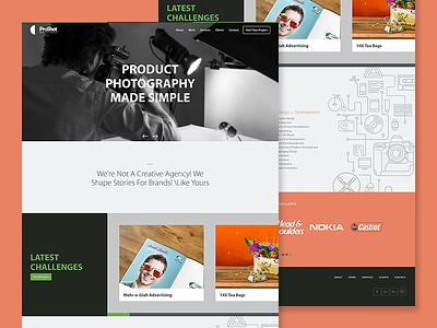 Creative Agency Website iran clean bootstrap portfolio agency web design website ui