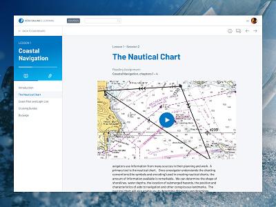 Sailing online learning platform navigation sailing ux ui side nav platform learning course lesson e-learning education
