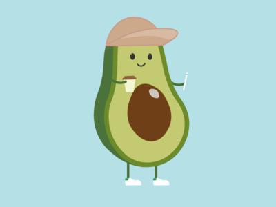 Avocado sneakers illustration avocado
