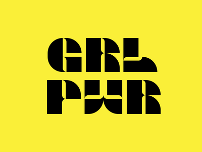 Girl Power Modular Type Lettering