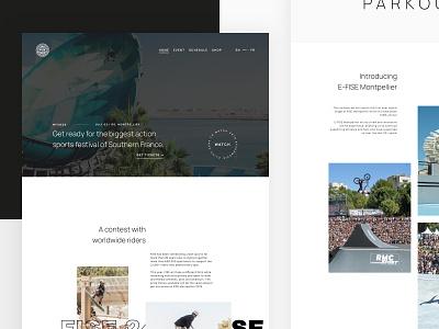 FISE Web Redesign Concept skateboard skate website home page homepage ui ui design webdesign web concept