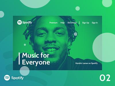 Spotify Landing Page concept ui design webdesign web landing page music spotify ui