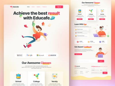 Online Learning Landing Page 3d modeling clean design exploration header exploration ux ui clean ui dashbaord online school elearning education learning website landing page minimal ux design uidesign uiux user experience user interface