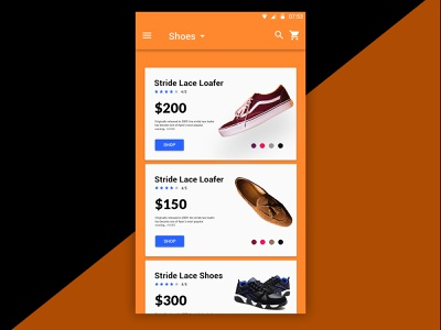 Shopping App Design e-commerce shop product page shopping app ux ui android simple design illustration app dashbaord app ui