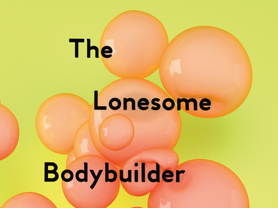 The Lonesome Bodybuilder color yellow creative direction concept 3d art 3d animation branding creative strategy creative art