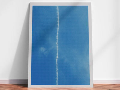 Opprobrium geometry line blue sky art print limited edition artist photography screenprint print art