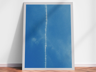 Opprobrium geometry line blue sky art print limited edition artist photography screenprint print art