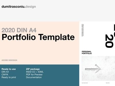 2020 DIN A4 Portfolio Template