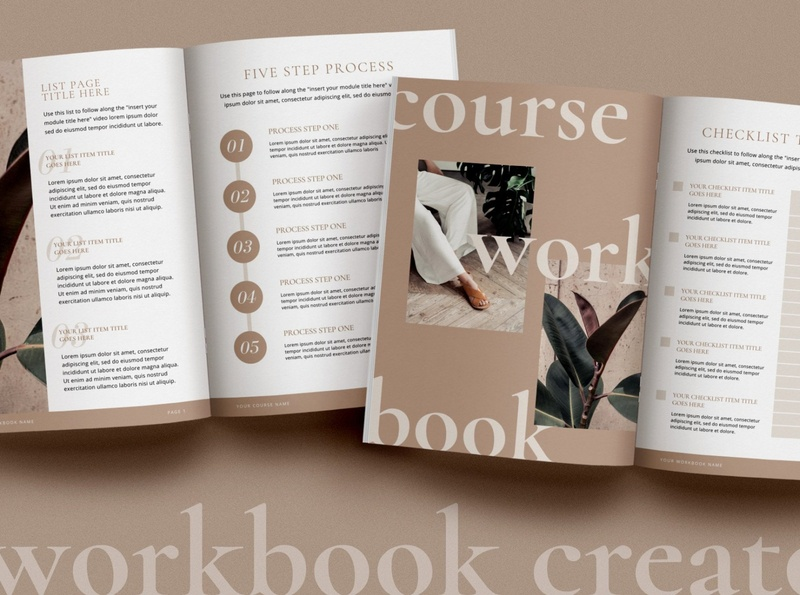 minimalist online course workook canva 1