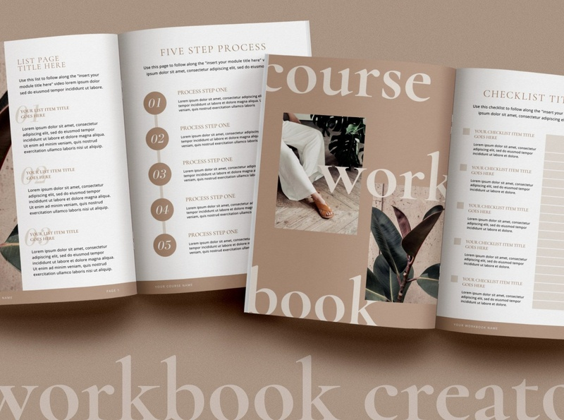 Canva WorkBook Creator | Minimalist
