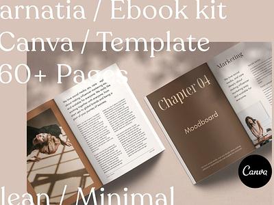 Carnatia - Ebook Kit CANVA Template ebook cover texture canva template canva ebook catalogue clean business elegant portfolio modern magazine branding brochure template