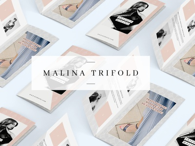 MALINA Trifold Brochure + Pattern pattern trifold template trifold brochure trifold mockup trifold catalogue clean business elegant portfolio modern magazine branding brochure template