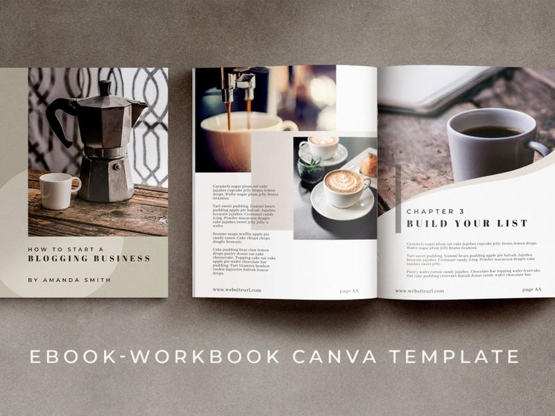 eBook - Workbook Canva Template | Maine canva template canva workbook catalogue clean business elegant portfolio modern magazine branding brochure template ebook
