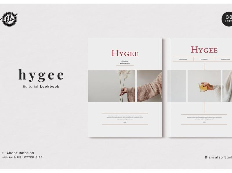 HYGEE Editorial Lookbook fashion free download lookbook editorial catalogue clean business elegant portfolio modern magazine branding brochure template