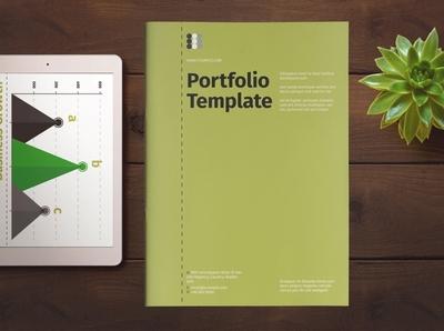 Portfolio Layout with Green Accent portfolio design free download portfolio site catalogue clean business elegant portfolio modern magazine branding brochure template