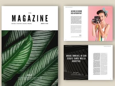 Magazine Layout - Adobe InDesign indesign free download layoutdesign adobe magazine ad catalogue clean business elegant portfolio modern magazine branding brochure template