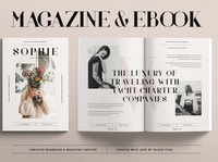 Sophie - eBook & Magazine Creator free download magazine ad ebook catalogue clean business elegant portfolio modern magazine branding brochure template