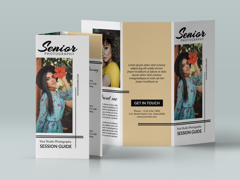 Senior Photography Brochure senior photoshop free download brochure design photography catalogue clean business elegant portfolio modern magazine branding brochure template