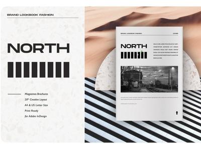 North Brand Lookbook free download lookbook brand north catalogue clean business elegant portfolio modern magazine branding brochure template