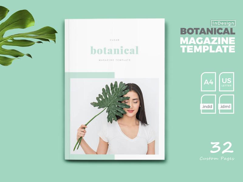 Botanical Magazine Templates free download templatedesign magazine ad botanical catalogue clean business elegant portfolio modern magazine branding brochure template