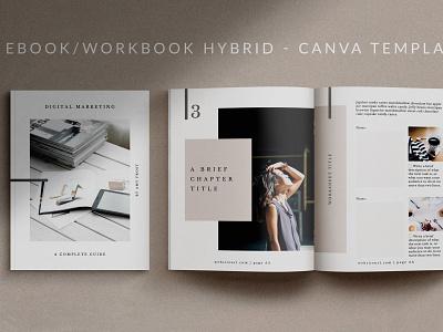 eBook-Workbook Template for Canva | Mio canva ebook workbook catalogue clean business elegant portfolio modern magazine branding brochure template