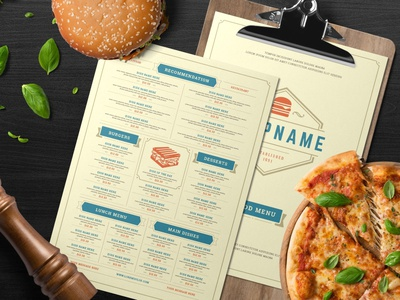 Fast Food Menu Template restaurant logo pizza hamburger hot dog portfolio magazine branding menu card menu design fast food logo fast food flyer design brochure fast food template fast food menus template menu fast food menu fast food