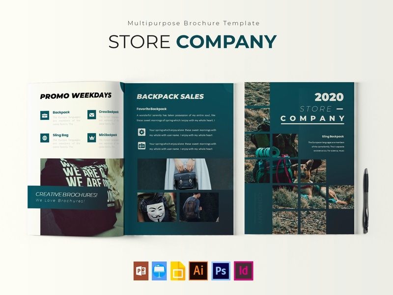 Store Company | Brochure Template free download brochure design company store catalogue clean business elegant portfolio modern magazine branding brochure template