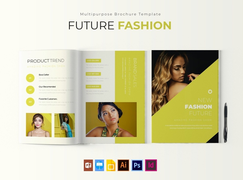 Future Fashion | Brochure Template free download brochure design fashion indesign catalogue clean business elegant portfolio modern magazine branding brochure template