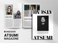 Atsumi | Magazine free download catalogue clean business elegant portfolio modern magazine branding brochure template
