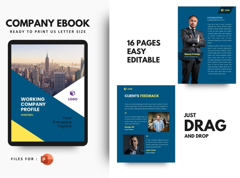 Pro Company Profile 2020 eBook Template PowerPoint Presentat catalogue clean business elegant portfolio modern magazine branding brochure template