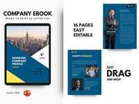 Pro Company Profile 2020 eBook Template PowerPoint Presentat catalogue clean business elegant portfolio modern magazine branding brochure template