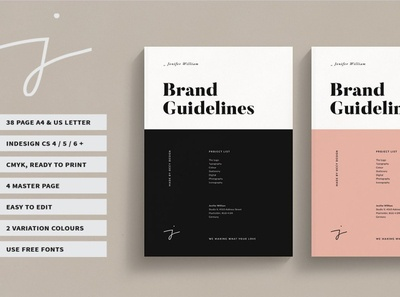 Brand Guidelines guidelines free download catalogue clean business elegant portfolio modern magazine branding brochure template